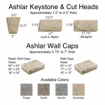 Ashlar Keystone, Cut Heads & Wall Caps