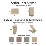 Ashlar Trim Stones, Keystone & Archstone