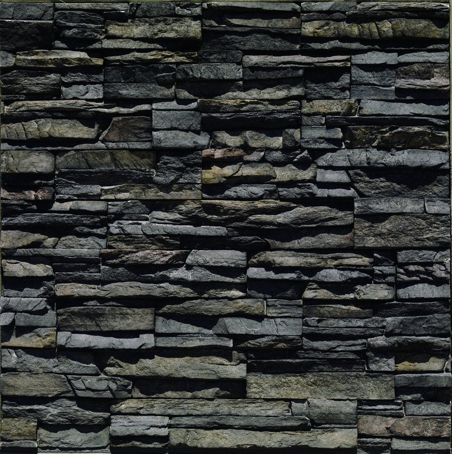 Stacked stone brick america for Stacked stone house