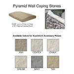 Pyramid Wall Coping Stones