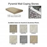 Pyramid Wall Coping Stones