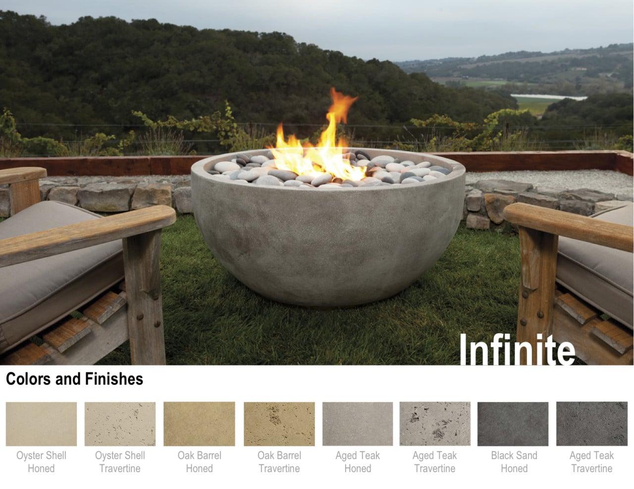 Artisan fire bowls for Eldorado stone fire bowl