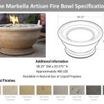 Eldorado Infinite Fire Bowl Specifications