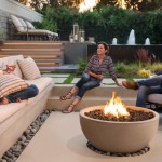Eldorado Infinite Fire Bowl in Aged Teak with Honed Finish