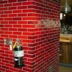 Custom Cinnamon Glazed Brick - Taps Fish House and Brewery - Corona, CA
